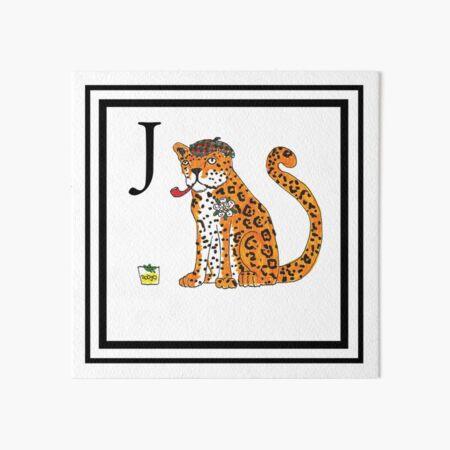 J is for Jaguar Art Board Print