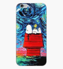 Starry night snoopy iPhone Case