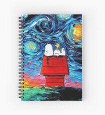 Starry night snoopy Spiral Notebook