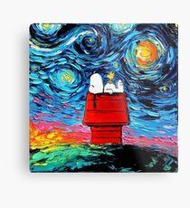 Starry night snoopy Metal Print