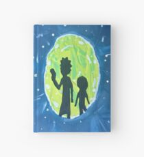rick and morty portal Hardcover Journal