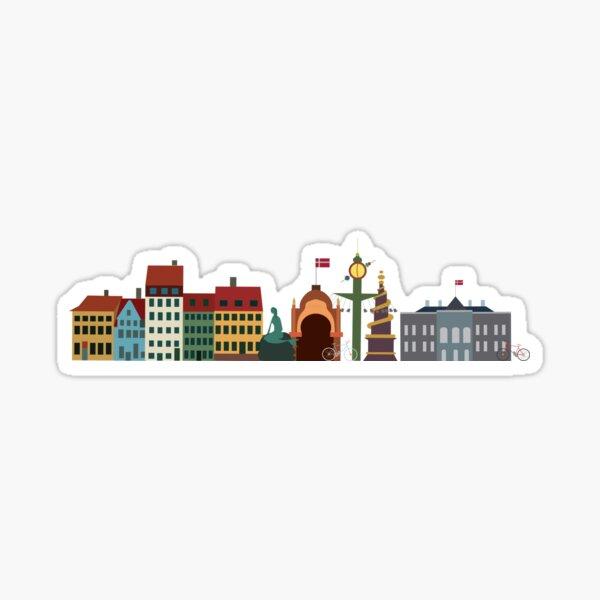 Copenhagen denmark Sticker