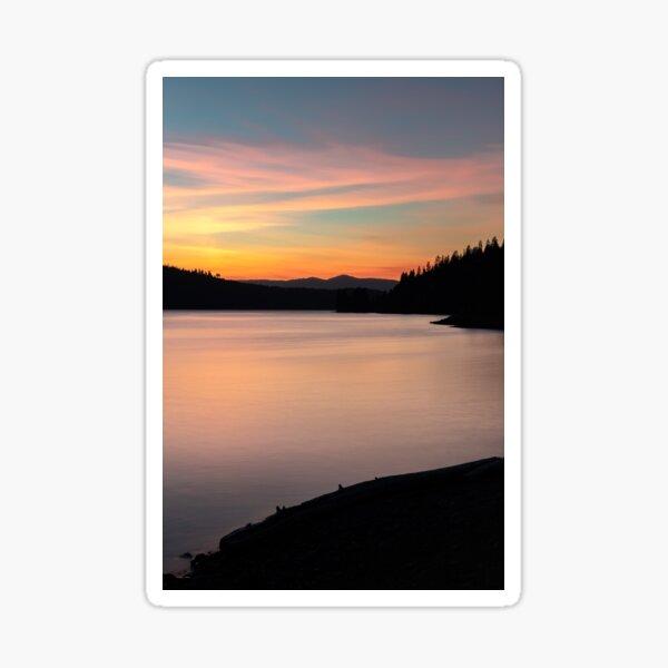 Lake Coeur D'Alene at Dusk Sticker