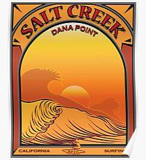 Salt Creek Dana Point California Surfing Poster