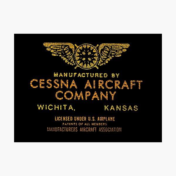 Cessna Vintage Aircraft USA Photographic Print
