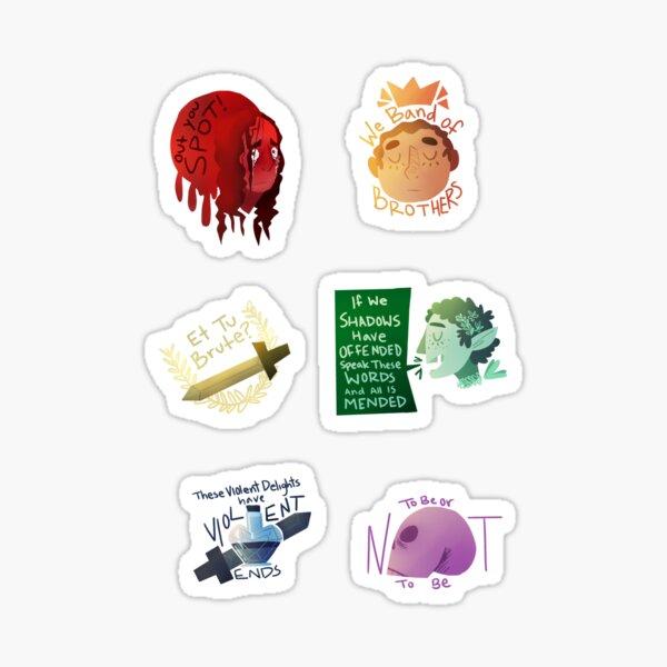 Rainbow Shakespeare Quotes Sticker
