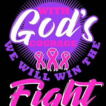 Christian Breast Cancer Awareness Pink Ribbon Gift by kh123856