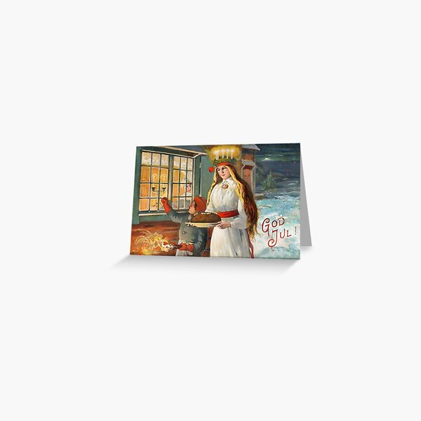 Saint Lucia Carrying Bread Greeting Card