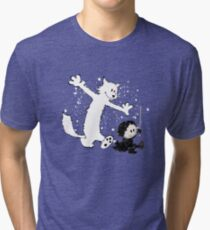Ghost and Snow Tri-blend T-Shirt