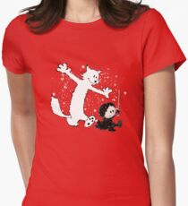 Ghost and Snow Womens Fitted T-Shirt