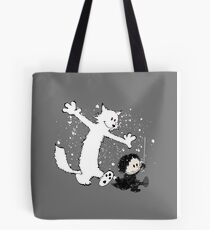 Ghost and Snow Tote Bag