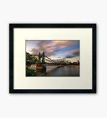 Hammersmith Bridge Sunset Framed Print