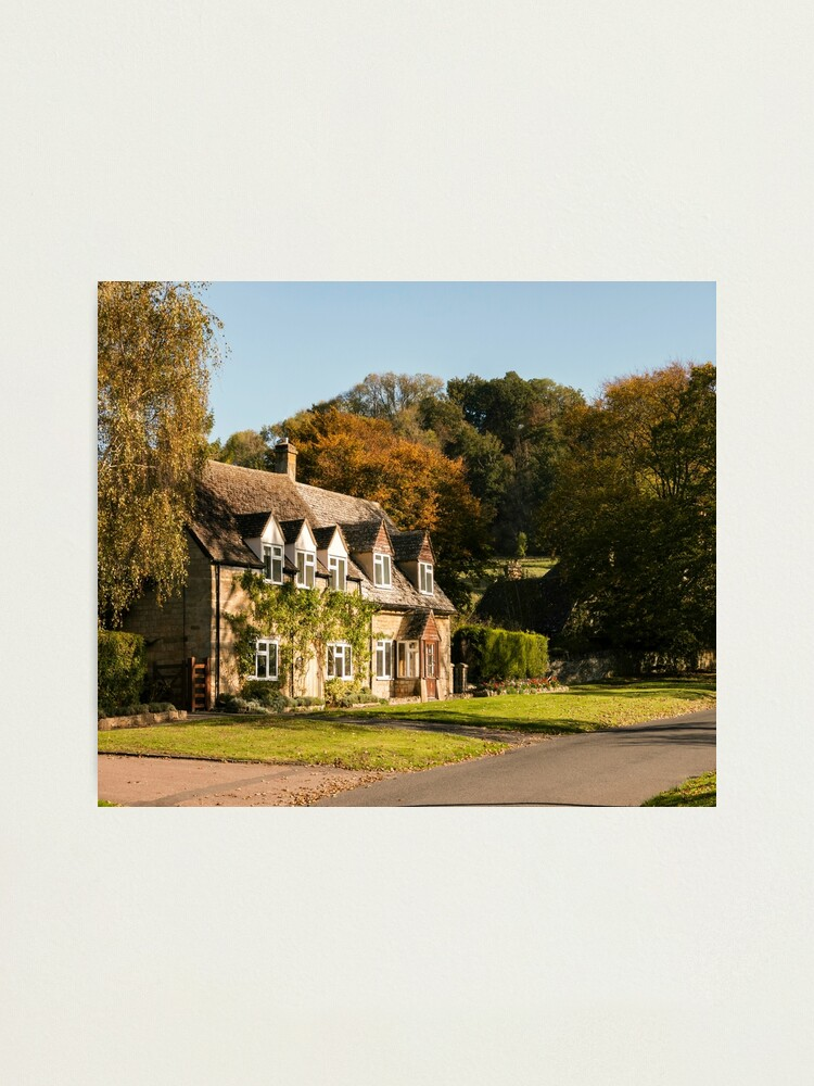 Alternate view of Autumn village. Photographic Print
