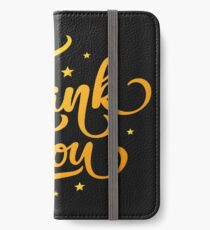 Thank You iPhone Wallet/Case/Skin