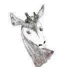 Watercolor Okapi Head by WildernessStore