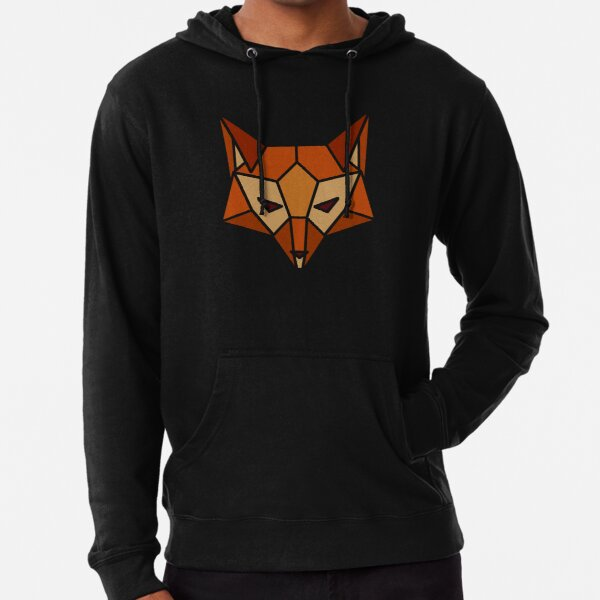 Geometric Fox Lightweight Hoodie