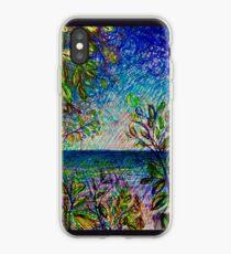 Lake Peaks Through Leaves iPhone Case