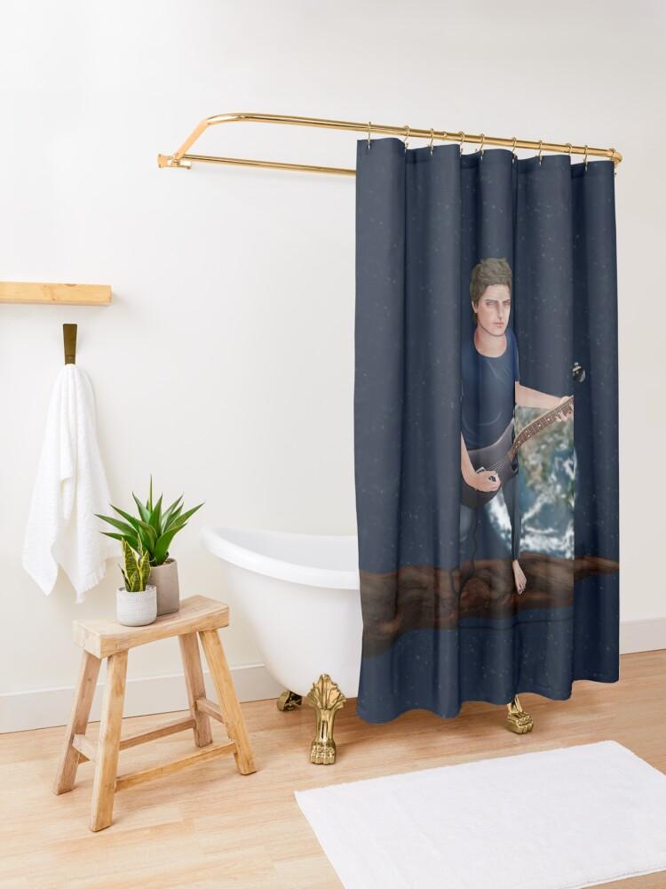 Alternate view of Solitude Shower Curtain
