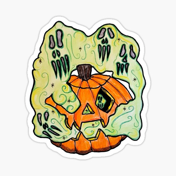 Anna's Halloween Ghoulish Pumpkin Sticker