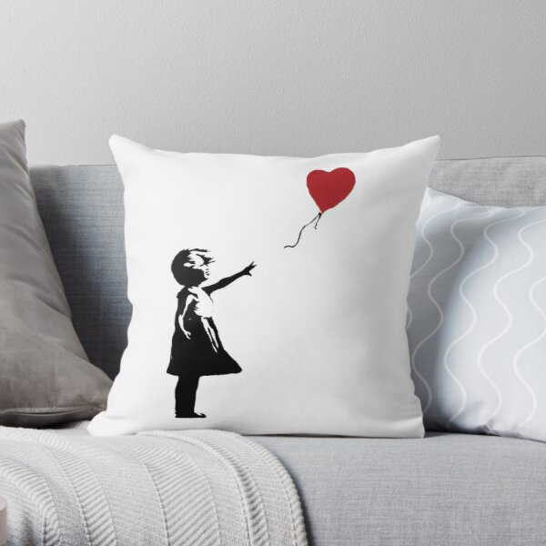 Banksy - Fille avec ballon Coussin