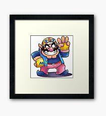 "Wario (Biker Alt.) - [""MARIO & LUIGI RPG"" Style] Framed Print"