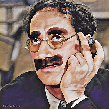 Groucho Marx digital painting by AndythephotoDr
