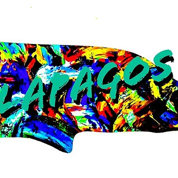 Galapagos Whale Sticker  by barryknauff