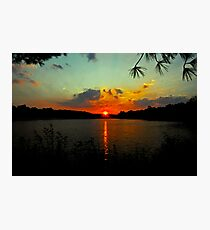 Orange Sun - Aqua Sky Photographic Print