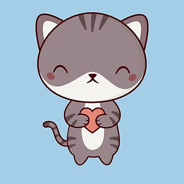 Kawaii Cute Kitten Cat by happinessinatee