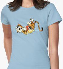 Calvin Hobbes fun Women's Fitted T-Shirt