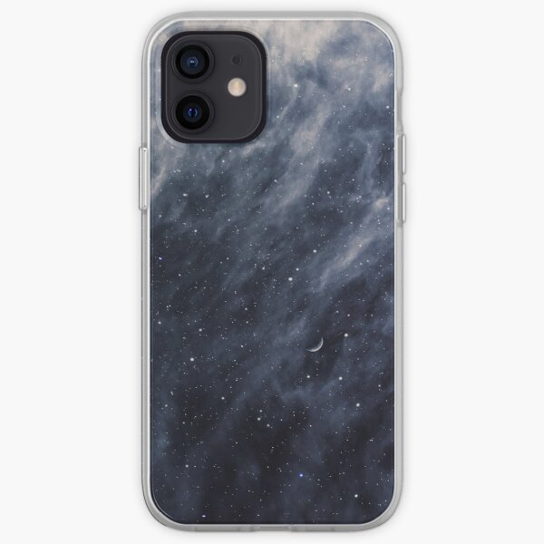 Blue Clouds, Blue Moon iPhone Soft Case