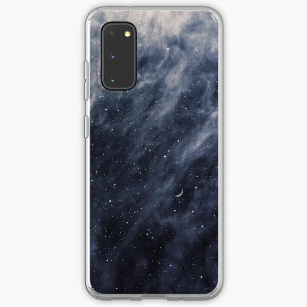 Blue Clouds, Blue Moon Samsung Galaxy Soft Case