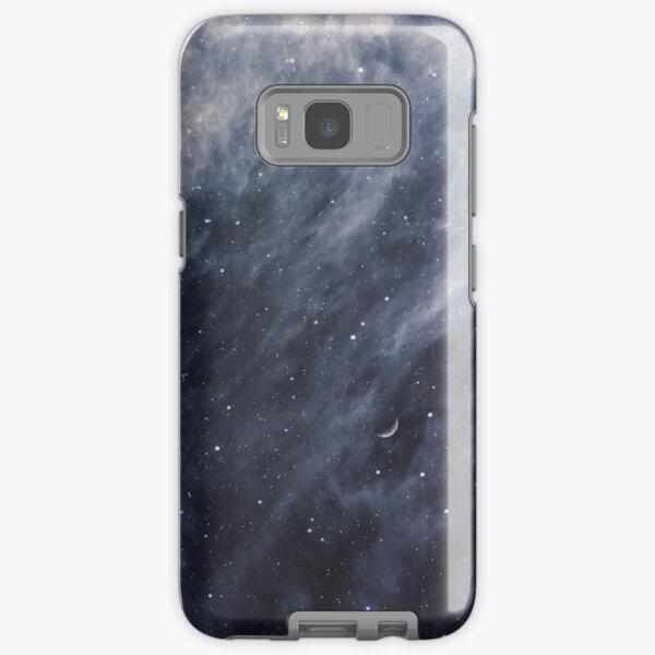 Blue Clouds, Blue Moon Samsung Galaxy Tough Case