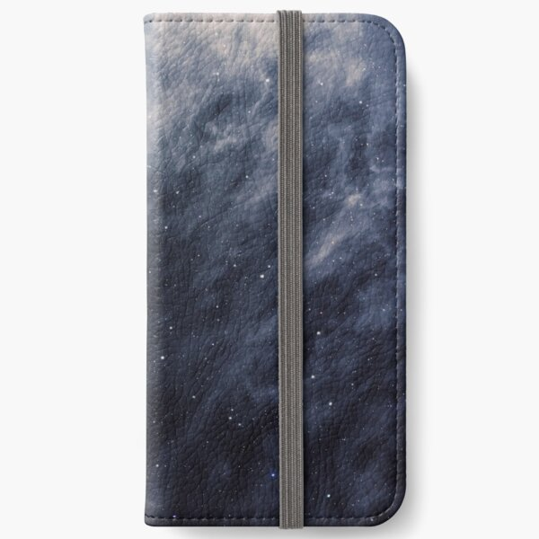 Blue Clouds, Blue Moon iPhone Wallet