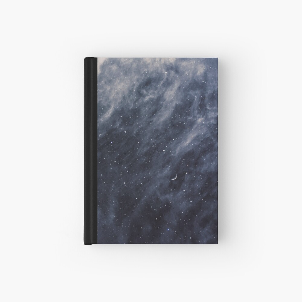 Blue Clouds, Blue Moon Hardcover Journal