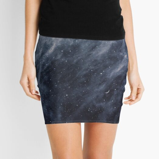 Blue Clouds, Blue Moon Mini Skirt