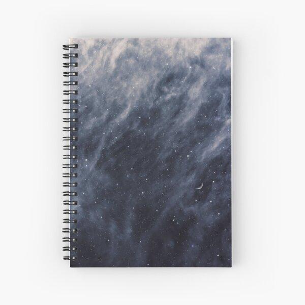 Blue Clouds, Blue Moon Spiral Notebook