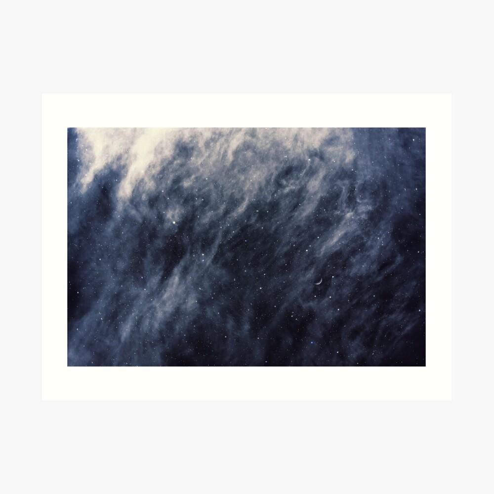 Blue Clouds, Blue Moon Art Print