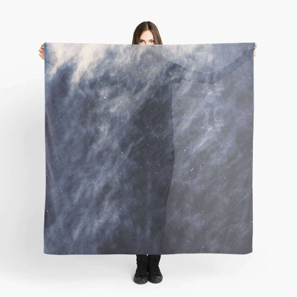 Blue Clouds, Blue Moon Scarf