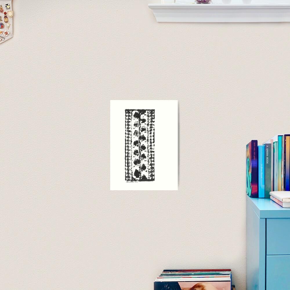 Crochet Impressions: LEAVES Art Print