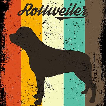 Rottweiler Retro 70s Vintage Dog Lover Gift by cgocgy
