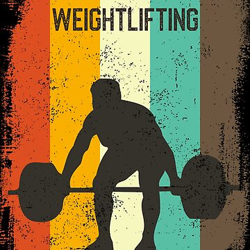 Weightlifting Retro 70s Vintage Weightlifter Gift by cgocgy