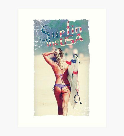 TASTY™ Surfer Girl Art Print