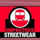 IMPACTEES STREETWEAR LOGO TRAIN RED by IMPACTEES