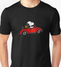 snoopy car Unisex T-Shirt