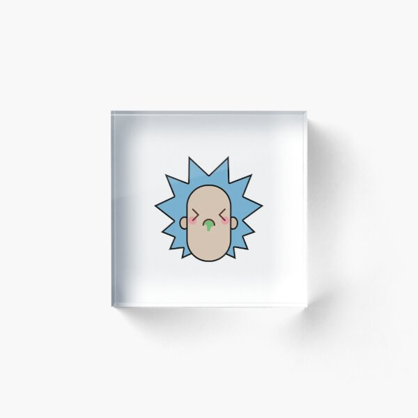 Rick Kawaii Face Acrylic Block