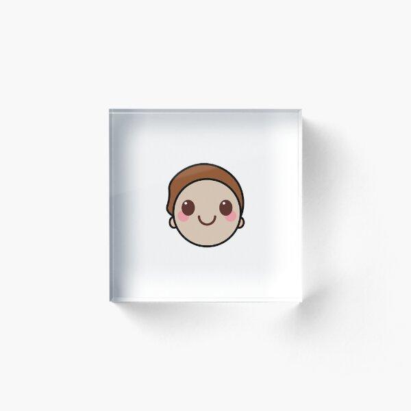 Morty Kawaii Face Acrylic Block