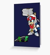 Samurai Pizza for Ninjas  Greeting Card