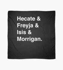 Goddesses of Magic - Hecate, Freyja, Isis, and Morrigan Scarf