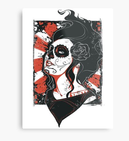 TASTY™ SUGAR SKULL Metal Print